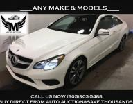 2016 MERCEDES BENZ E400 COUPE RED INTERIOR